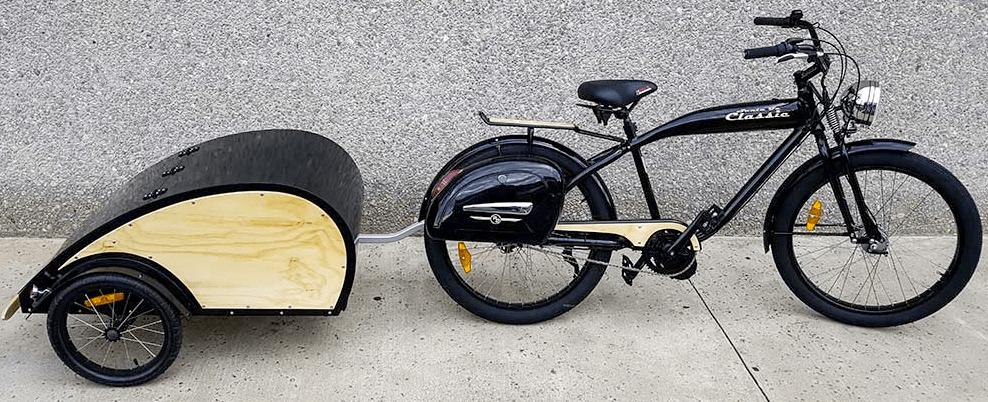 Phantom Santa Fe Classic e-bike plus wooden trailer