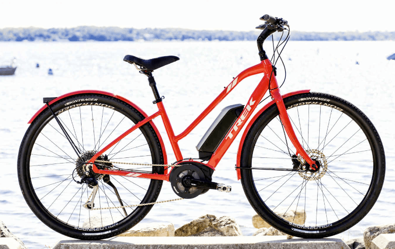 trek verve review a powerful hybrid e bike electric. Black Bedroom Furniture Sets. Home Design Ideas