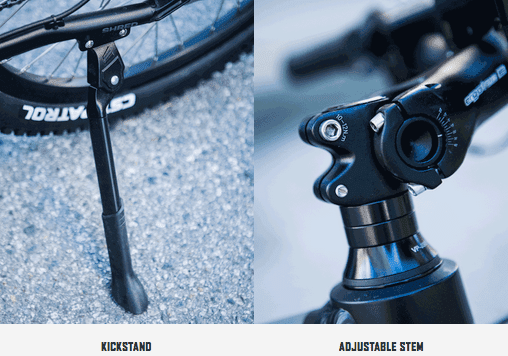 604 Shred kickstand and stem