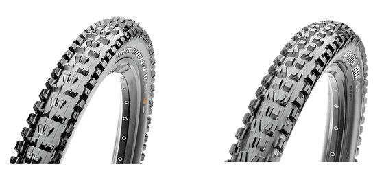 27 inch Maxxis Minion DHF and high roller II emountain bike tires