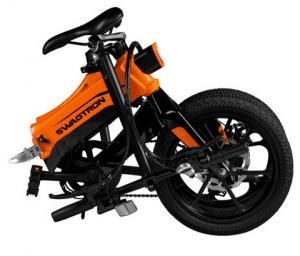 Folded electric bike view
