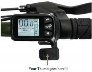 Throttle and controller for Super73 fat tire ebike