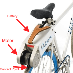 Friction drive conversion kit for standard bikes
