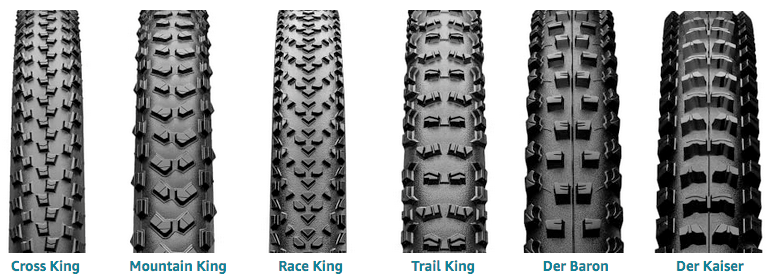 Continental front and rear electric mountain bike tires series