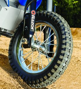 Front wheel with no suspension