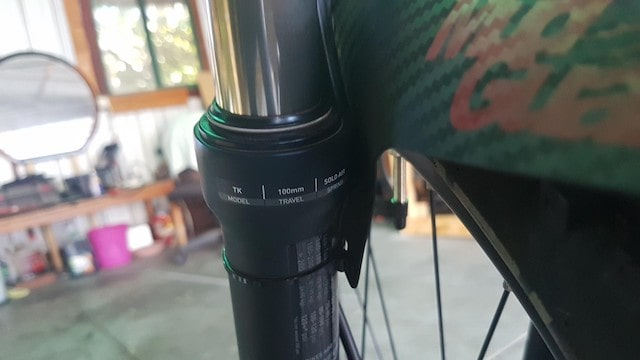Full suspension electric bike travel mark EBA