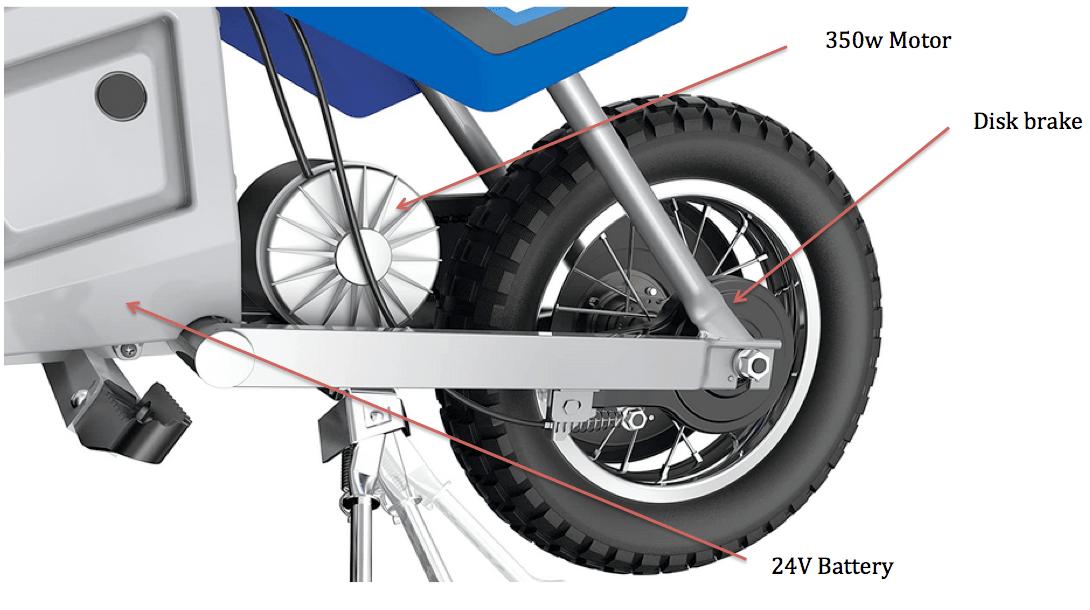 Razor MX350 Dirt rocket parts